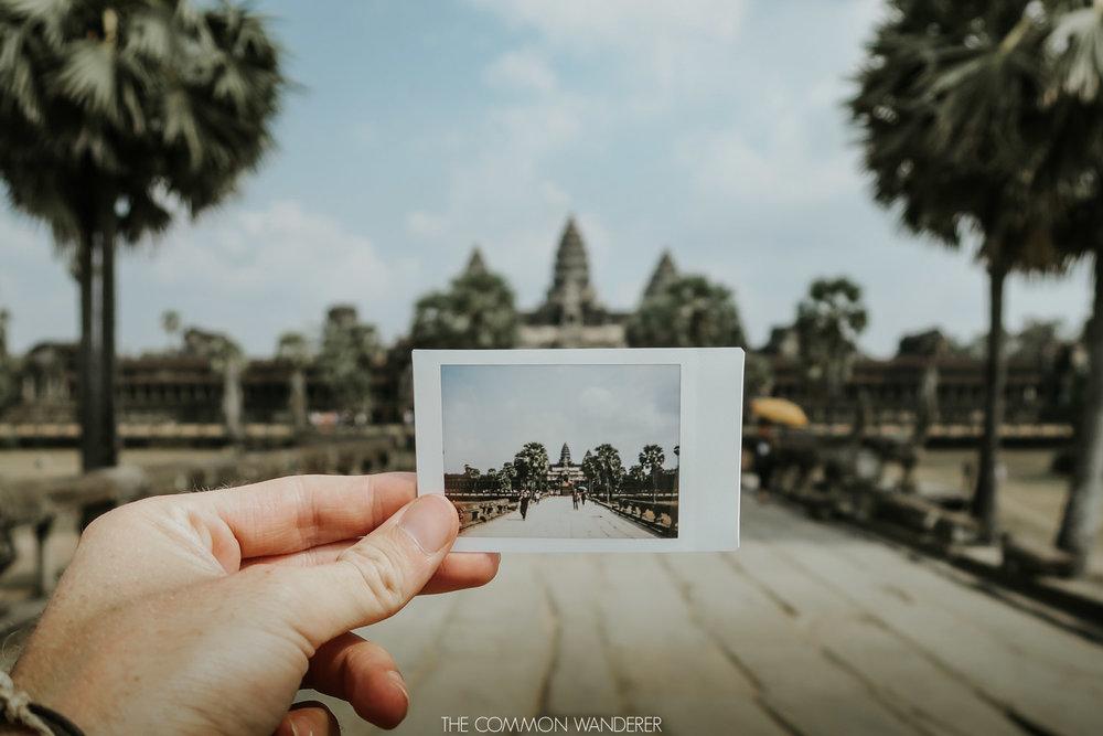 Een foto die dankzij een micro SD kaart gemaakt is van Angkor